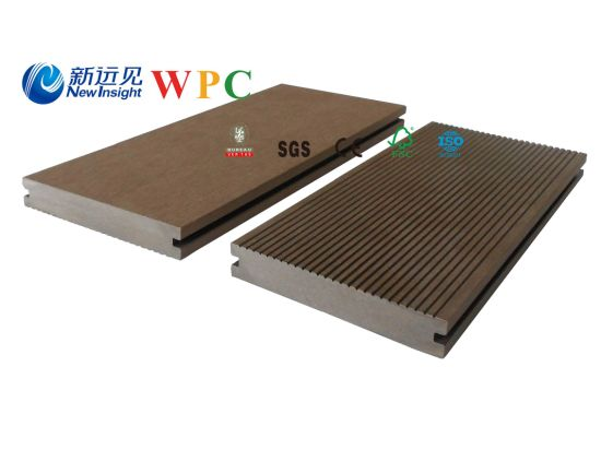 140*25mm Wood Plastic Composite Decking with CE, Fsg SGS, Certificate