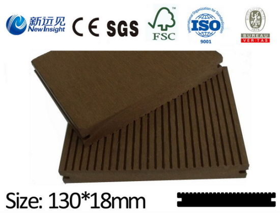 High Quality WPC Decking WPC Flooring with SGS ISO CE Fsc Wood Plastic Composite Decking Composite Wood Decking Flooring Solid Decking Timber Decking Lhma066