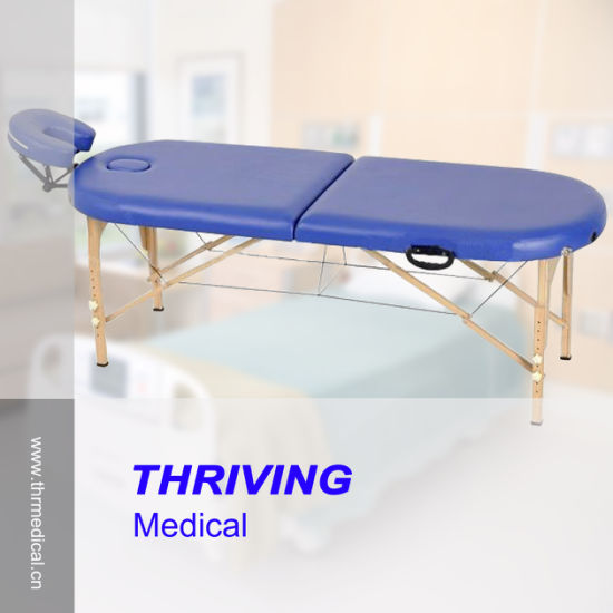 High Quality Beech Wooden Portable Massage Table (THR-WT002F) pictures & photos