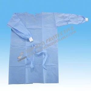 Medical Surgery Lab CE Long Sleeve Non-Woven Fabric Operating Gown pictures & photos