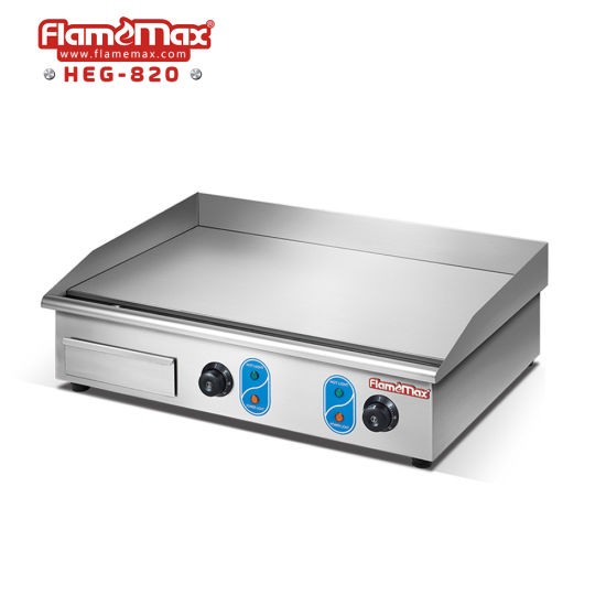 Kitchen Equipment Commercial Counter Top Flat Plate Electric Grill Griddle With Ce Certificate Heg 820