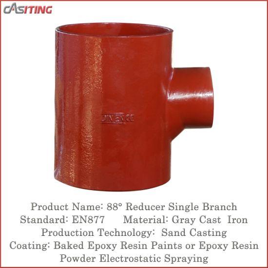 China 88deg Reducer Tee En877 Sml Cast Iron Pipe Fitting