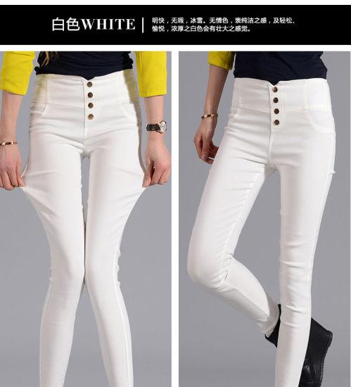 bd70cbbc24b China OEM Plus Size High Waist Fit Slim Women Jeans - China High ...
