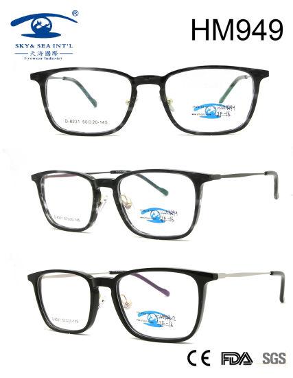 25441d1422 2018 Classical Popular Fashion Frame Acetate Eyeglasses (HM949) pictures    photos