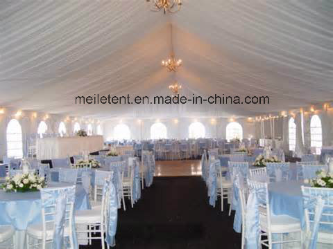 White PVC Tarpaulin Cheap Wedding Tent for 150 Person pictures & photos