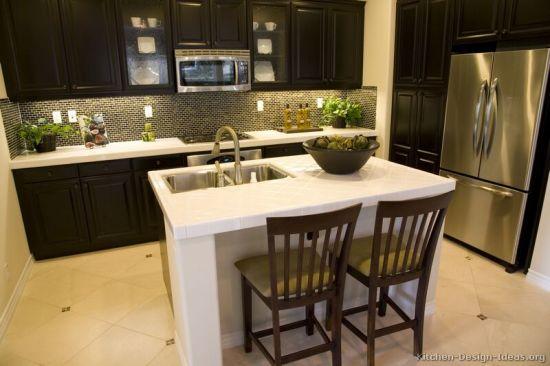 China Dark Espresso Kitchen Cabinets De14 China Kitchen Cabinet Brown Ktichen