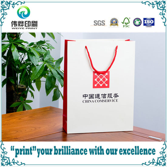 matte art paper packaging printing gift bag for china comservice