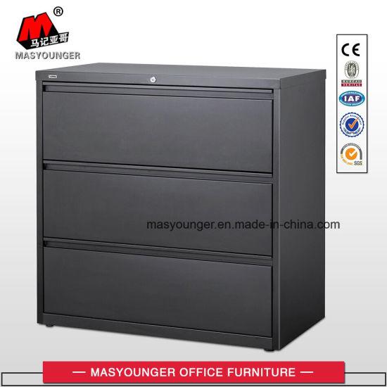 3 Drawer Metal Full Suspension Lateral Legal Or Latter Steel Hardware Hanging File Cabinet