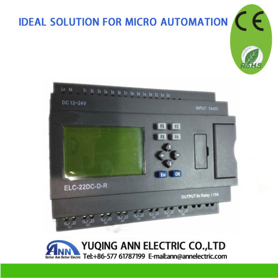 Micro PLC Controller Smart Relay Elc-22DC-D-R with LCD Ce RoHS