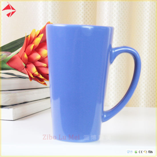 V Shape Color Glazed Ceramic Coffee Mug/Ceramic Mug/Tea Cup Set for Gift pictures & photos