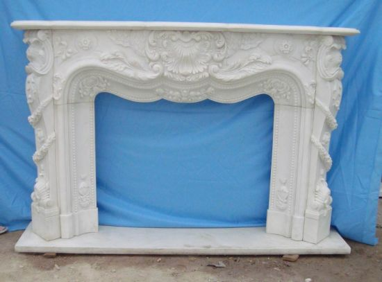 New Special Grey Wood Marble Fireplace Mantels Surrounds