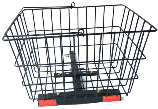 Large Iron Rear Basket for Mobility Scooters Size 15''x10.25''x9.75''