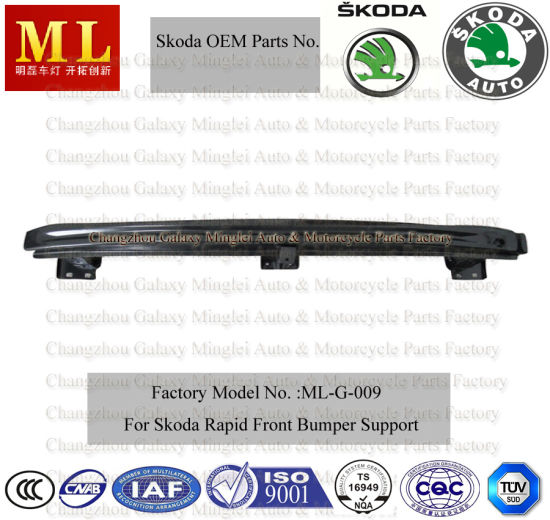Front Car Bumper for Skoda Rapid From 2012 (5JS807109) (ML-G-009)