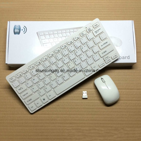 2.4G Mini Wireless Keyboard and Optical Mouse Combo Black/Whit for Samsung Smart TV Desktop PC