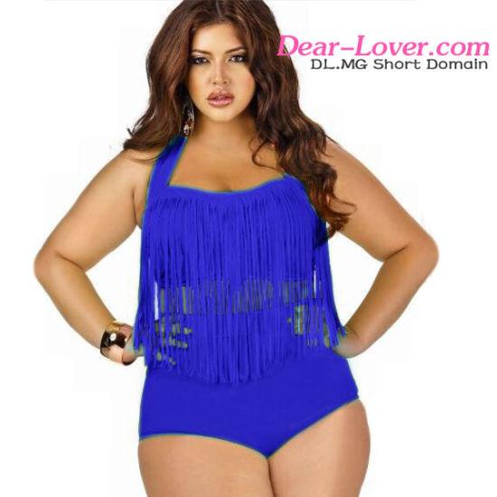303a82931fee7 China Sexy Tassel Lady Swimsuit Plus Size Bikini Swimwear - China ...