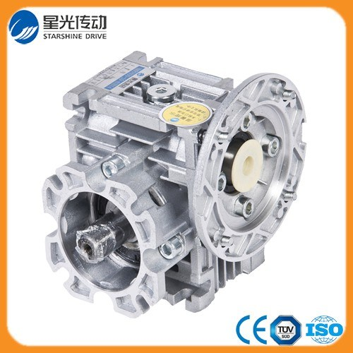 Mini Worm Gearing Arrangement Speed Reducer with Output Shaft and Output Flange