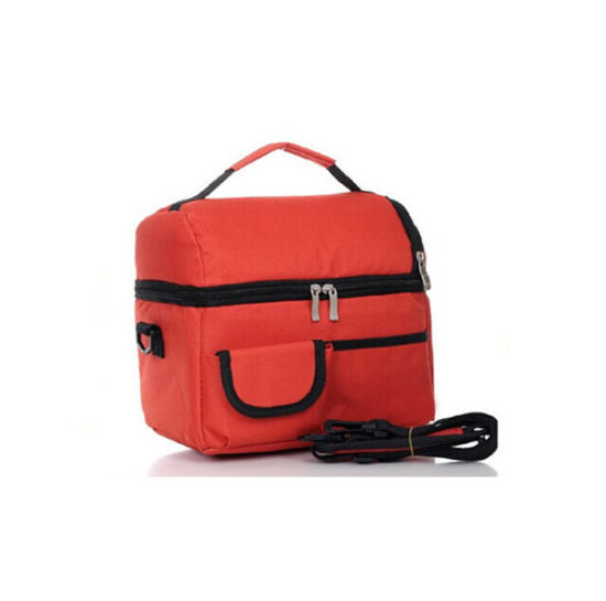 Non Woven Insulated Food Shoulder Picnic Cooler Bag Sh-16011217
