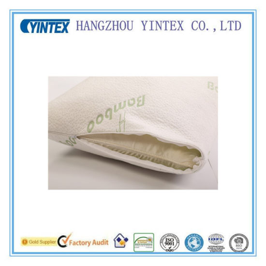 Memory Foam Bamboo Pillow in Roll Bag pictures & photos