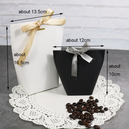 5pcs 4 Sizes Folding Black Kraft Paper Box Blank With Pvc Window Gift Packaging Supplies Party Cake Baking Candy Paper Box Home & Garden Gift Bags & Wrapping Supplies
