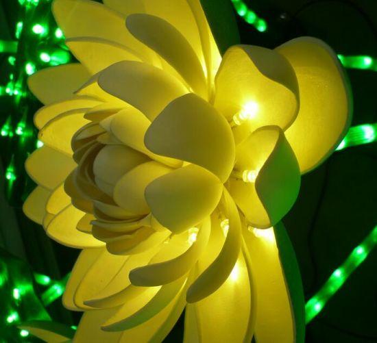 Solar Garden Lights Flower Christmas Light Show Outdoor Decorations