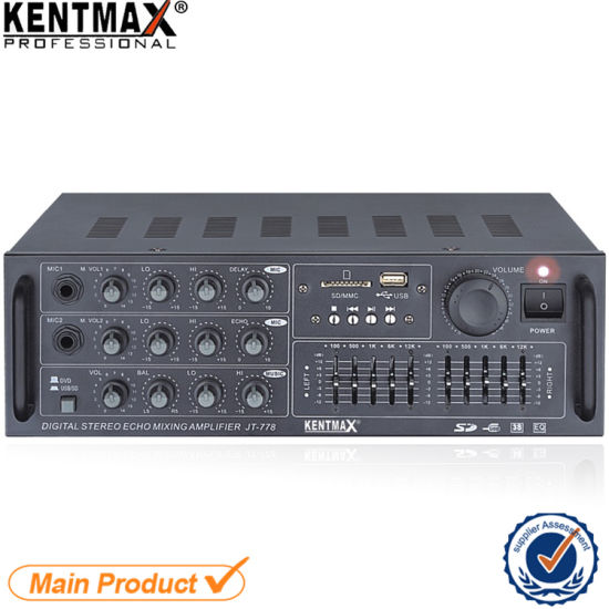 China Iron Panel 15W Audio Mixer Optional Equalizer