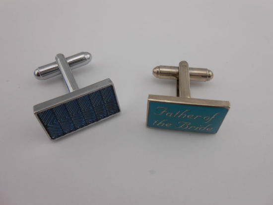 Square Promotional Stampe Logo Metal Cufflinks (GZHY-XK-011) pictures & photos