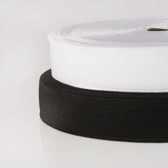 25mm Clear White or Black Flat Woven Elastic Webbing for Waist Band pictures & photos