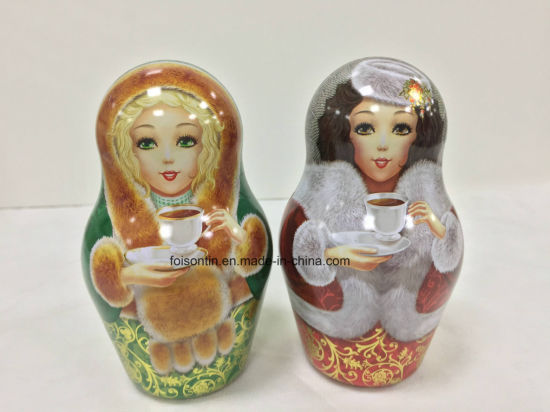High Quality Snow Doll Shaped Gift Tin /Candy pictures & photos