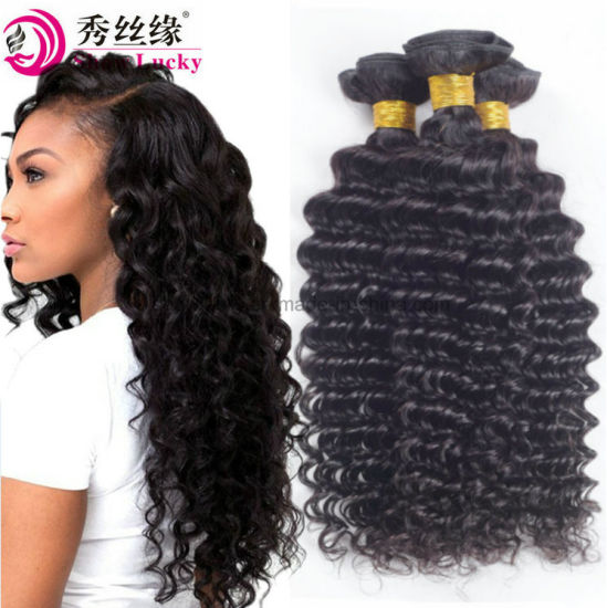 Wholesale Virgin Peruvian Hair Deep Wave Beauty Sexy Formula Remy Human Hair Extensions pictures & photos