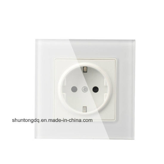 China EU Standard Power Socket, White Crystal Glass Panel, AC 110 ...