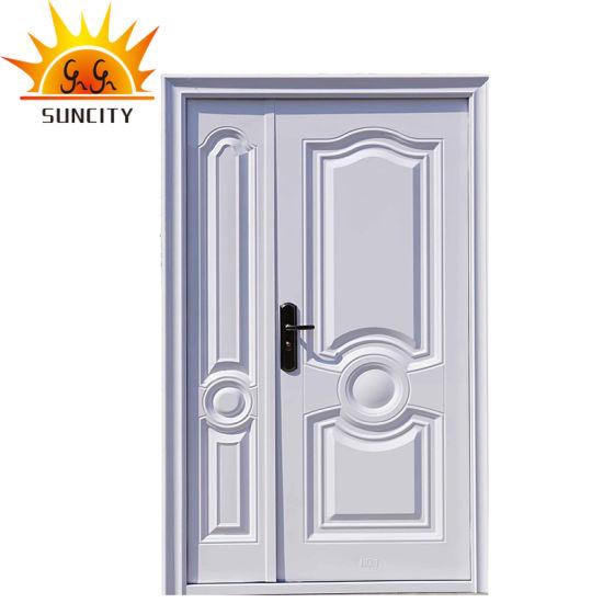 Popular Steel Security Iron Door with Power Coating Finish