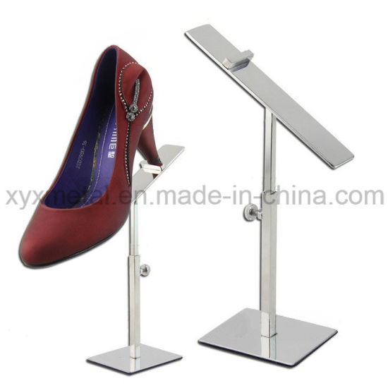 Exhibition Stand Height : China stainless steel shoes exhibition holder height adjustable