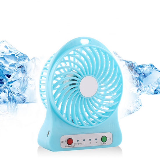 2020 Mini Portable USB Handheld Desktop Computer Table Rechargeable Fan pictures & photos