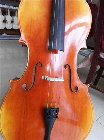 Flame Maple High Grade Cello Musical Instrument pictures & photos