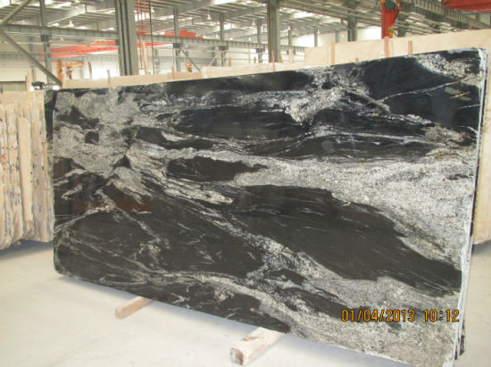 Nero Fantasy Black Granite With White Veins Countertops Pictures Photos