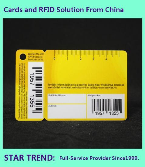 China Barcode Printed Plastic Pvc Combo Cards With Key Tag Reward