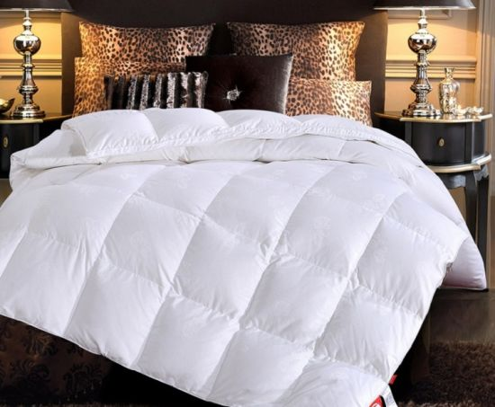 China 100% Cotton Sateen White Goose Down Quilt Duvet - China Goose ... d114f0c25