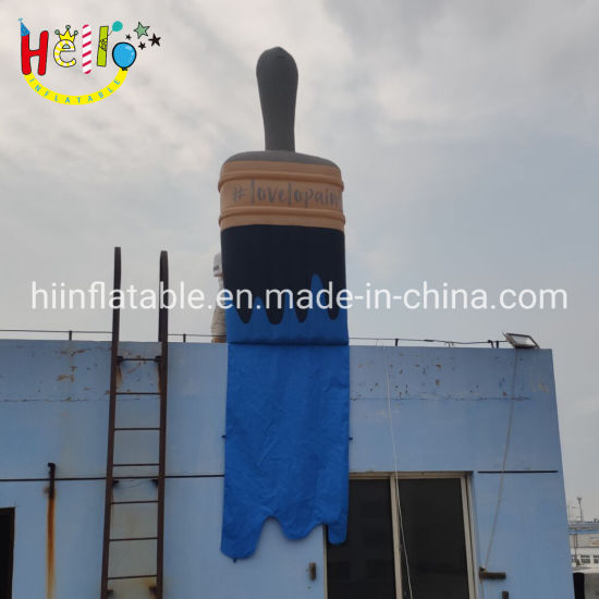 Building Decoration Giant Inflatable Sculptures Handle Painting Brush Inflatable