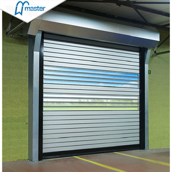 High Reliability Logistics Security Fiberglass Spiral High Speed Hard Fast Rolling Doors