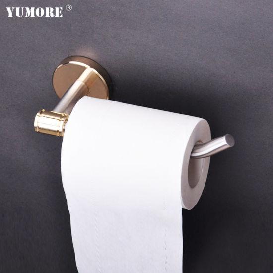 Custom Toilet Tissue Paper Box Gold Chrome Bathroom Accessories Paper Holder Stainless Steel Hanging Tissue Box