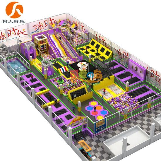 Children Soft Indoor Playground Equipment Commercial Jumping Trampoline Park