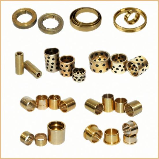 Customized Bronze/Brass/Copper Alloy Centrifugal Casting Bushing with Oil Groove in China pictures & photos