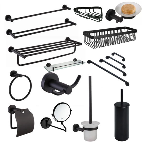 Factory 304 Black Stainless Steel Bathroom Accessories