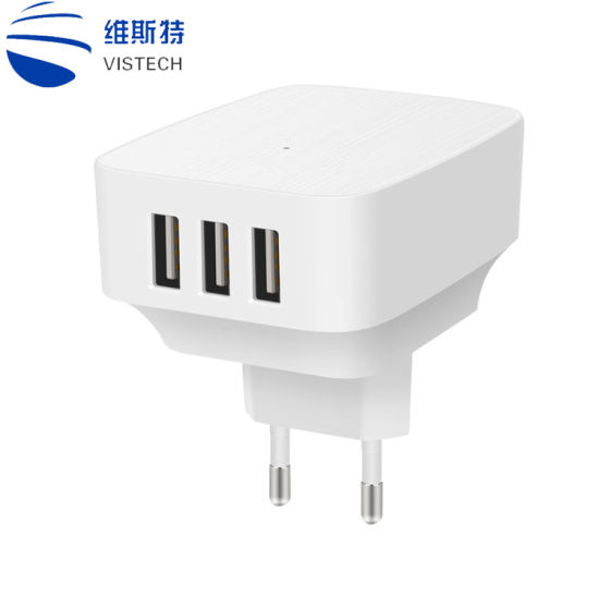 USB 3 Port USB Charger for Phone Camera USB Wall Charger 5V 2A