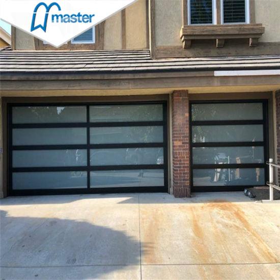 China Automatic Aluminum Glass Garage Door For Wholesales China Sectional Garage Door With Pedestrian Door 9x8 Garage Door