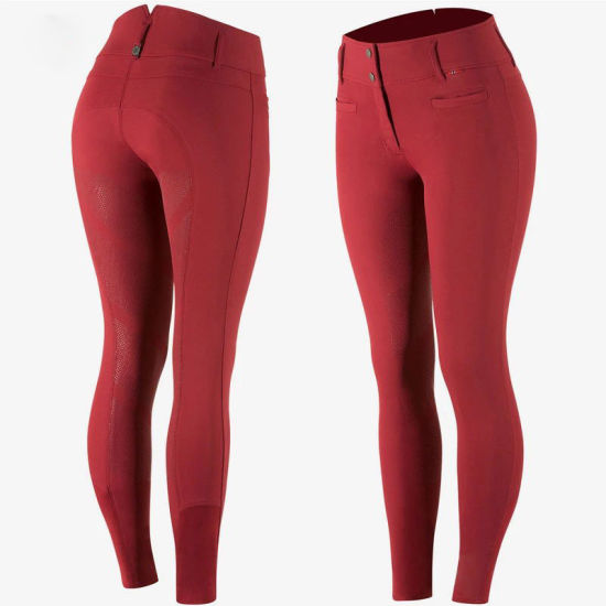 2019 Wholesale Equestrian Clothing Full Seat Silicone Horse Riding Pants Leggings Women Sports Breeches
