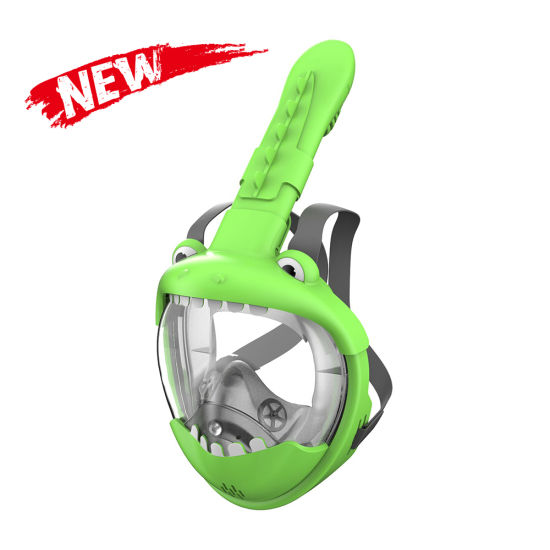 Wholesale Custom Swimming Scuba Diving Mask Low Volume Foldable Silicone Full Face Snorkel Mask