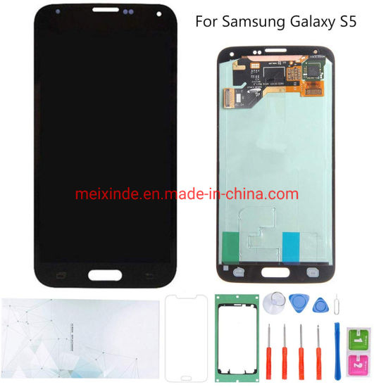 Mobile Phone LCD Replacement for Samsung S5 LCD OLED Display Screen Without Frame
