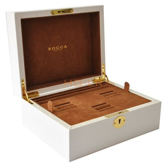 Leather Suit Box Jewelry Box for Ring and Bracelet
