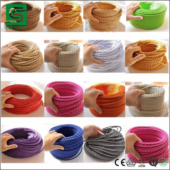 Vintage Cable Electrical Wire Textile Cable Fabric Cable Cotton Cable Wire